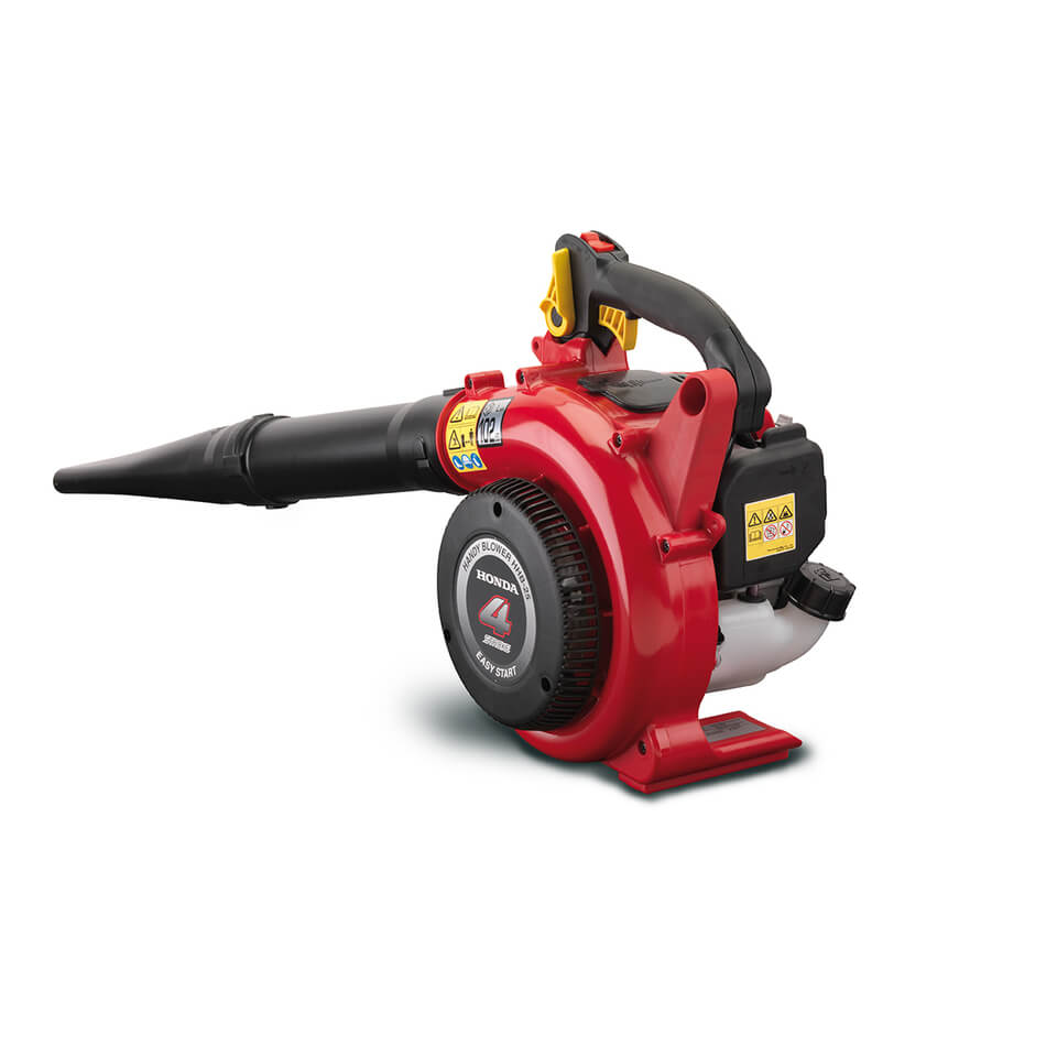 A Honda HHB 25 petrol hand-held leaf blower with a 7-year warranty