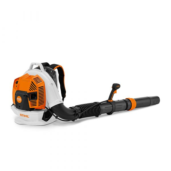 A STIHL BR 350 model backpack garden leaf blower